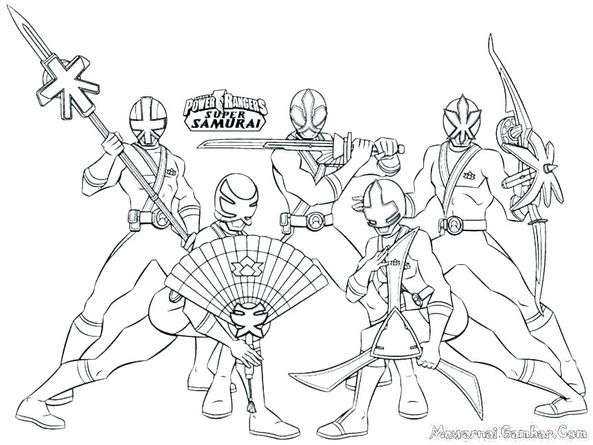 power rangers samurai coloring pages siirthaber