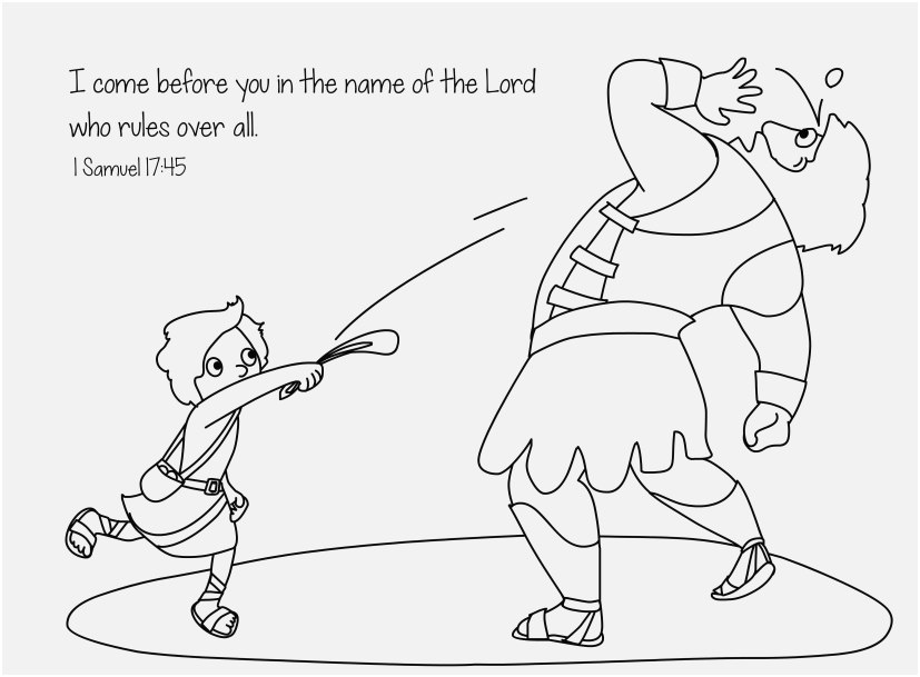 David And Goliath Coloring Pages Ideas Whitesbelfast