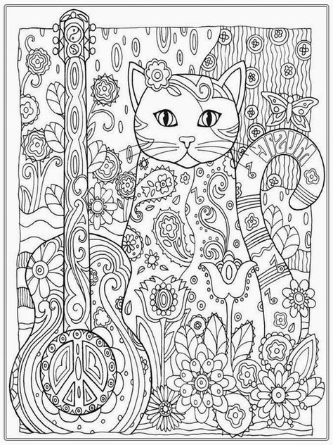 pretty cat coloring pages for adult printable cat coloring