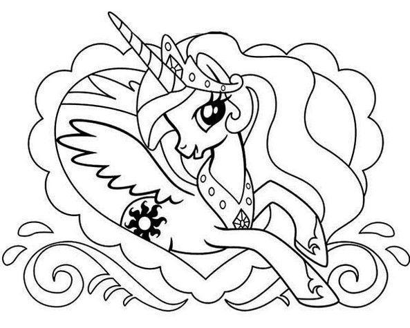 princess celestia alicorn pony coloring pages fun for kids