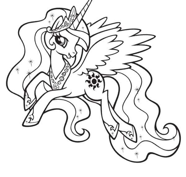 princess celestia coloring page malvorlagen ausmalbilder