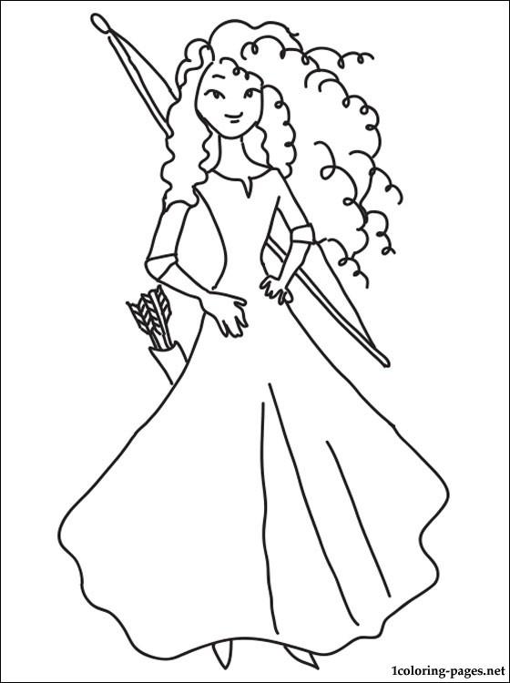 princess merida coloring page coloring pages