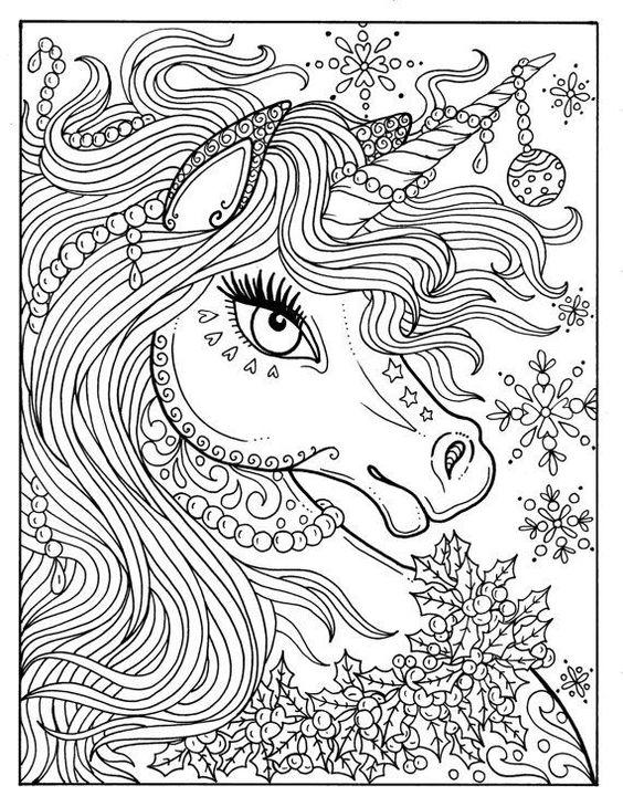 princess riding unicorn coloring pages