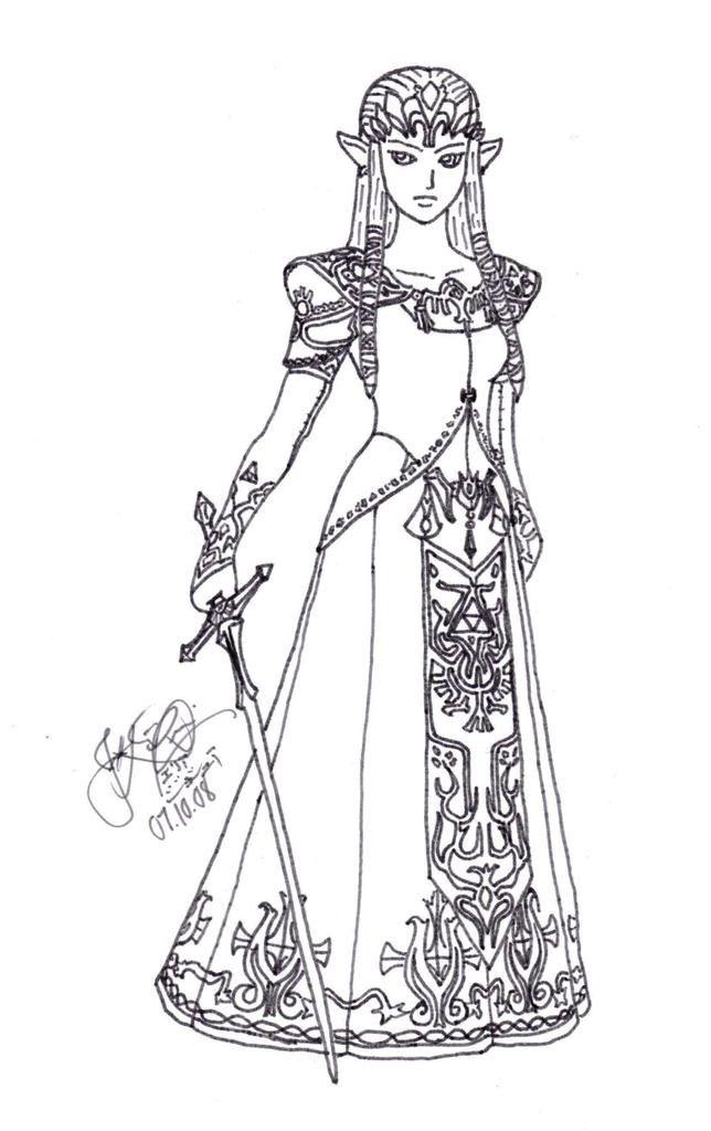 princess zelda coloring pages photo 66056 malvorlagen