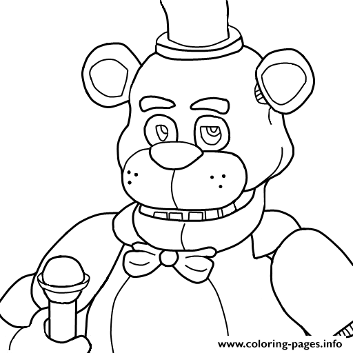 Five Nights At Freddy S Coloring Pages Collection Whitesbelfast