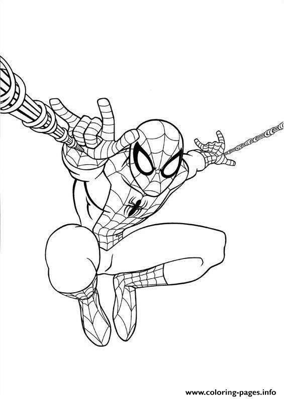 print ultimate spiderman jump coloring pages spiderman