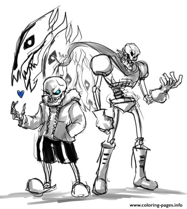 print undertale papyrus coloring pages ausmalen