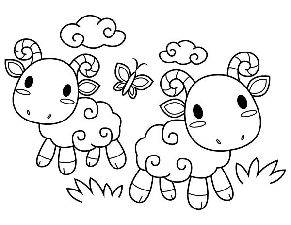 printable ba sheep coloring page