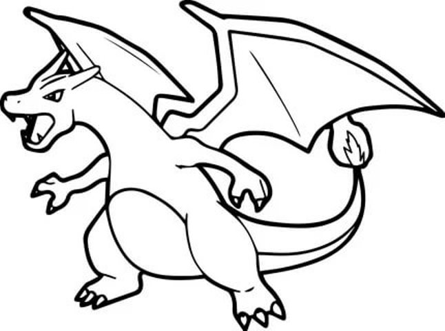printable charizard coloring pages for free free pokemon