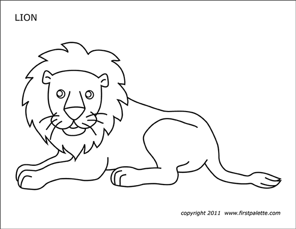 printable coloring lion huangfei