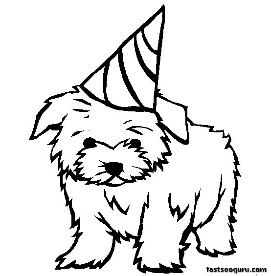 printable coloring pages dog