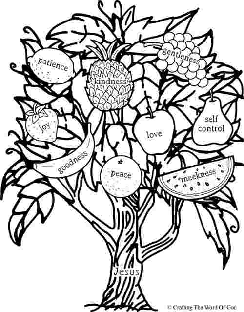 printable coloring pages for the fruit of the spirit penny