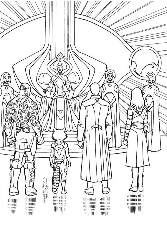 printable coloring pages guardians of the galaxy pusat hobi