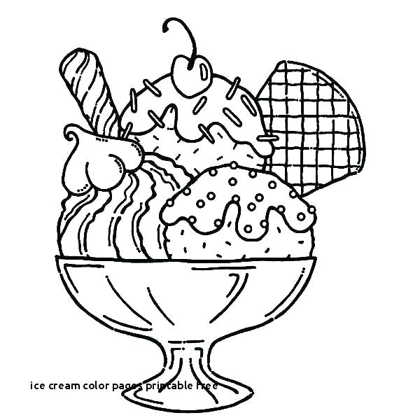 printable coloring pages ice cream pusat hobi