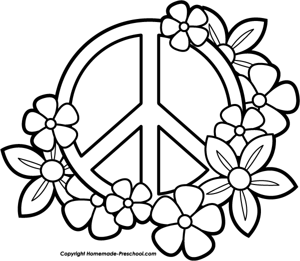 Peace Sign Coloring Pages Ideas Whitesbelfast