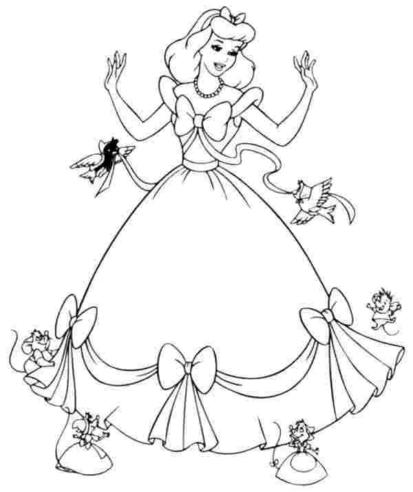 printable coloring pictures of cinderella free printable