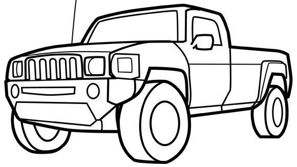 printable coloring sheets of trucks pusat hobi