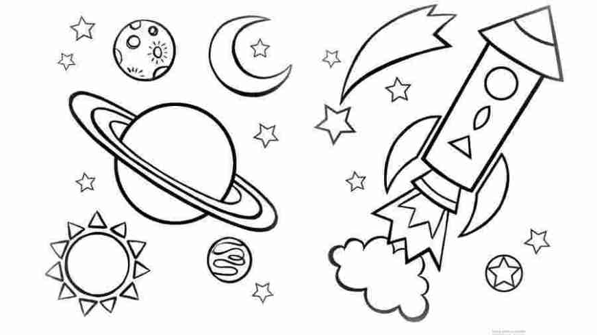 printable coloring sheets space free printable space