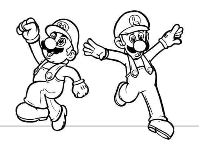 printable colouring pages of mario and luigi colouring pages