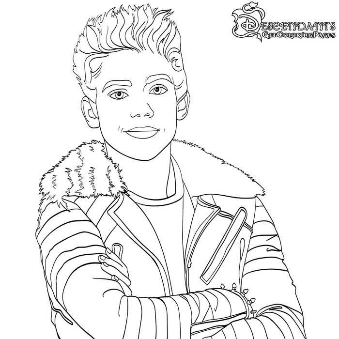 printable disney descendants 2 coloring pages descendants