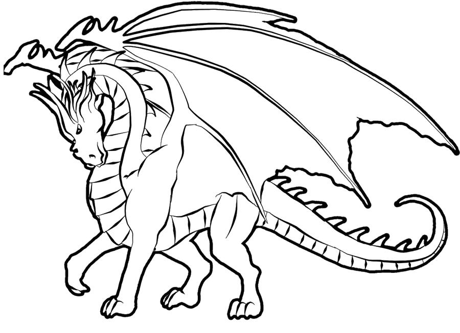 printable dragon coloring pages at getdrawings free