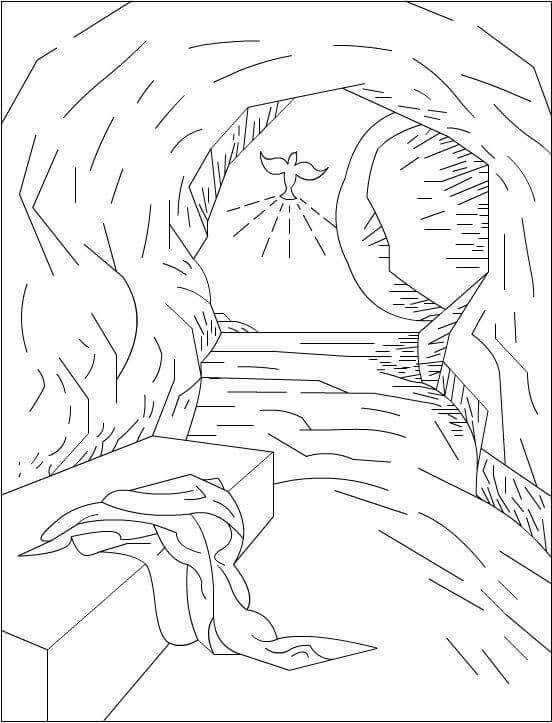 printable easter coloring pages religious theme coloring