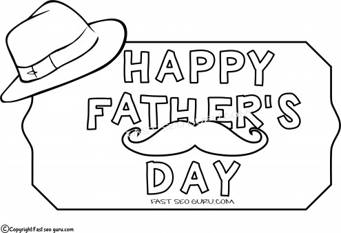 printable father day hat coloring pages for kids printable