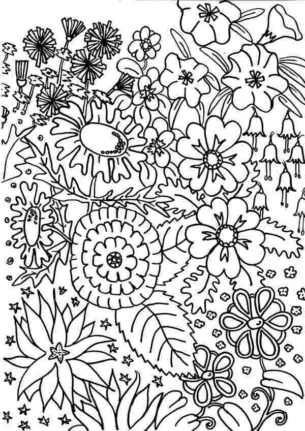 printable garden coloring pages flower garden coloring pages