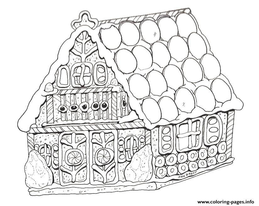 printable gingerbread house coloring pages printable