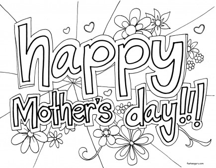 printable happy mothers day coloring in sheet printable