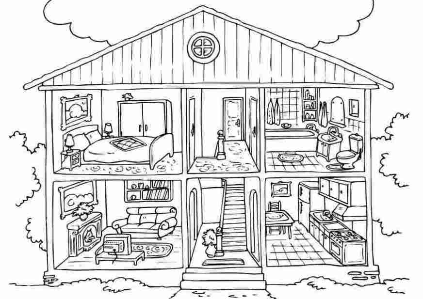 printable house for coloring free printable house coloring
