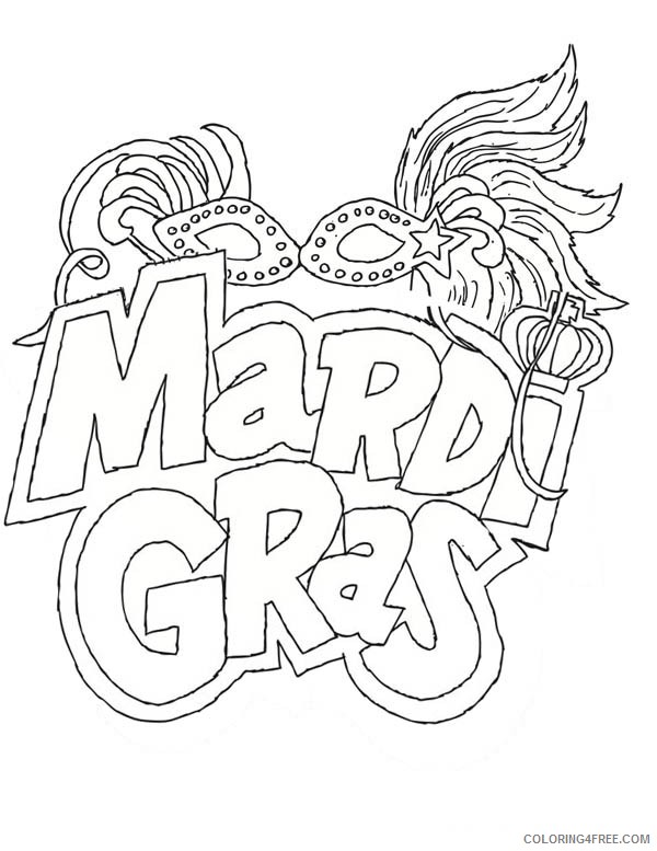 printable mardi gras coloring pages coloring4free