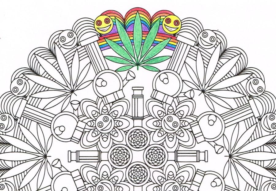 printable marijuana coloring pages free fun for kids