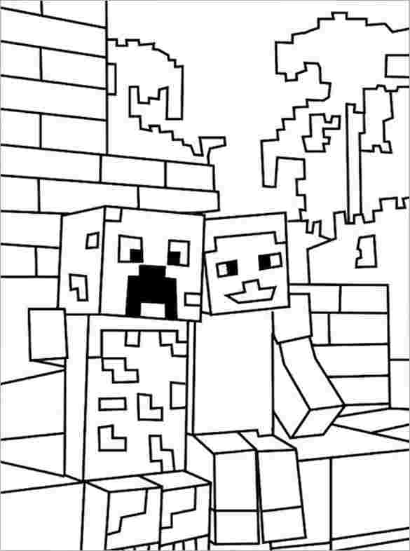 printable minecraft colouring pages minecraft coloring pages