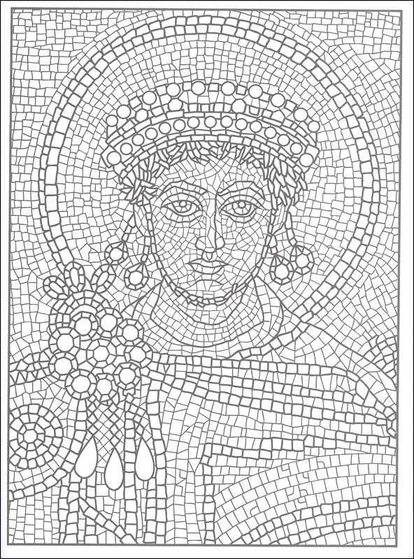 printable mosaic coloring pages for adults mosaic patterns