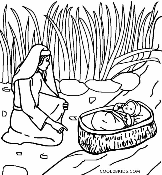 printable moses coloring pages for kids cool2bkids ba