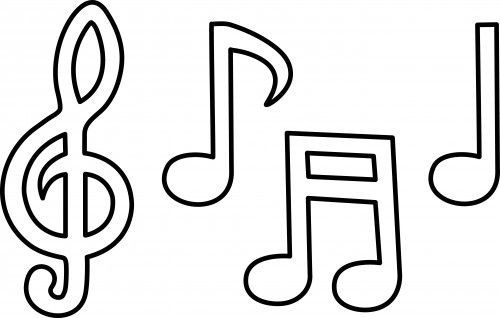 printable music note coloring pages to print with music