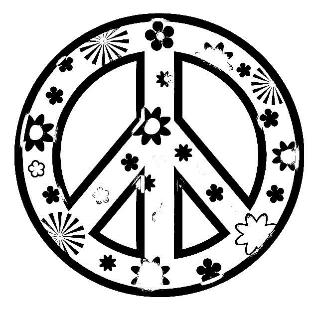 printable peace sign coloring pages printable coloring for