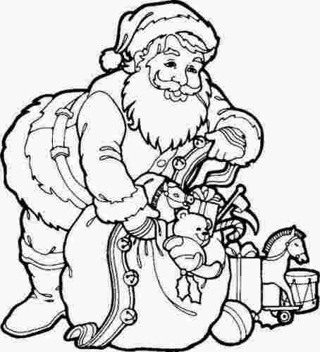 printable santa colouring pages free printable santa claus