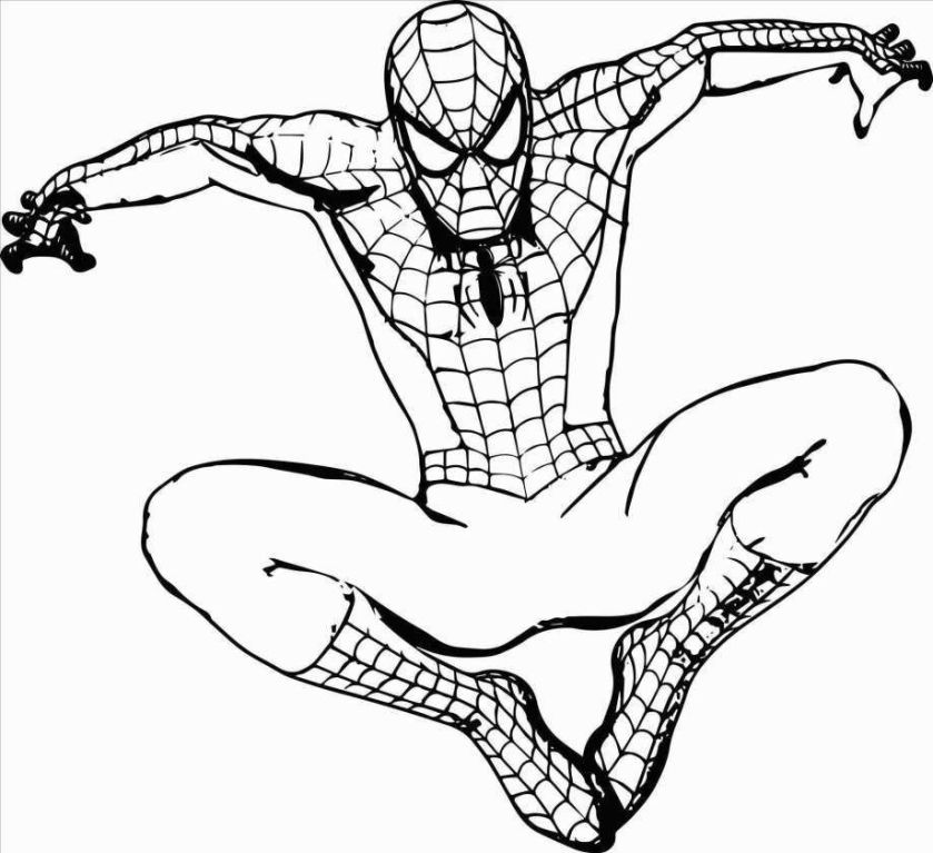 printable spiderman coloring pages easy and fun superhero