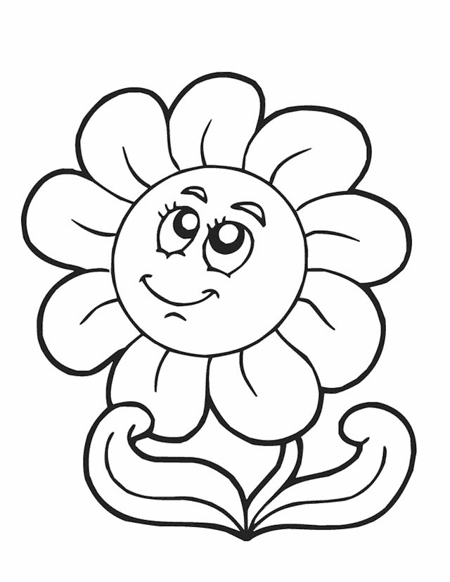 printable spring flower coloring pages