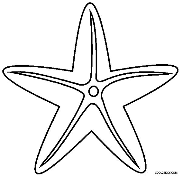 printable starfish coloring pages for kids cool2bkids