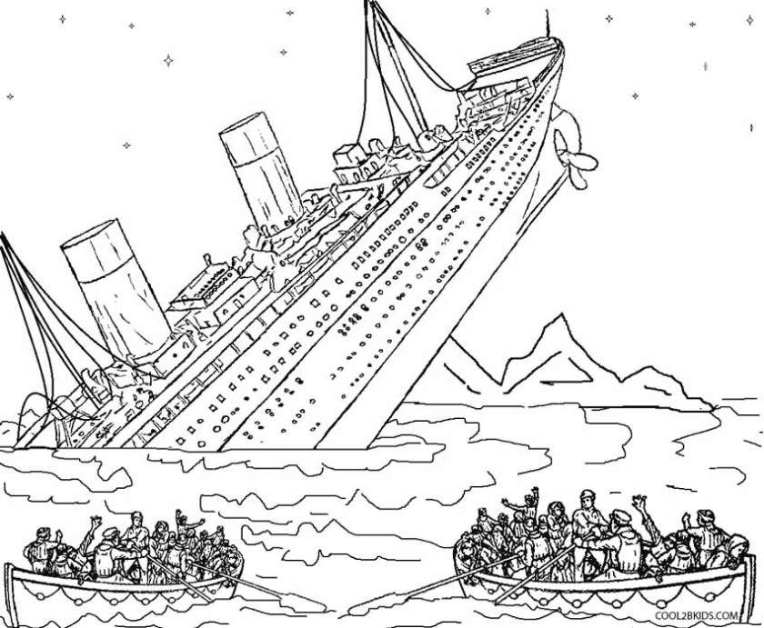 printable titanic coloring pages for kids cool2bkids
