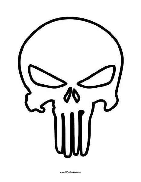 punisher skull coloring page free printable