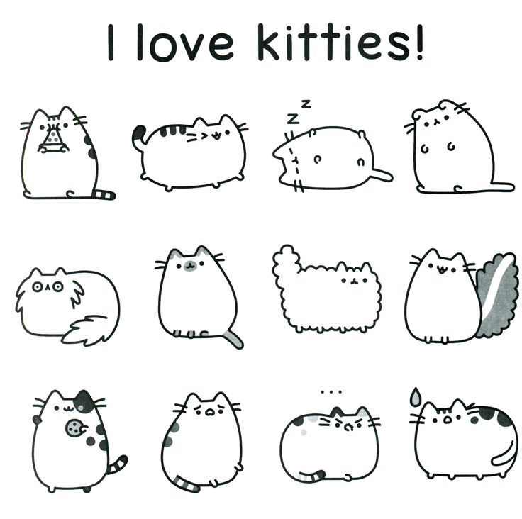 pusheen coloring pages free coloring page pusheen