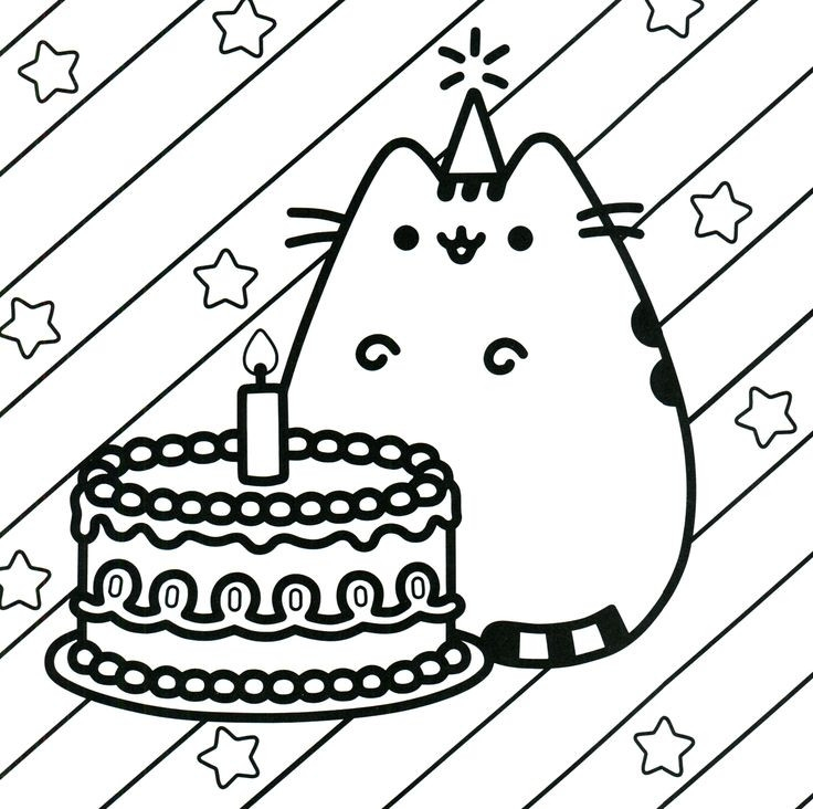 pusheen coloring pages printable printable fun for kids