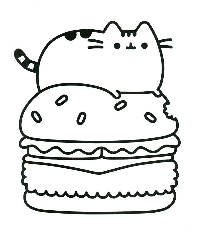 pusheen coloring pages that you can print pusat hobi