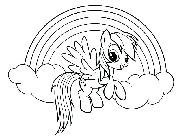 rainbow coloring page at getdrawings free for personal
