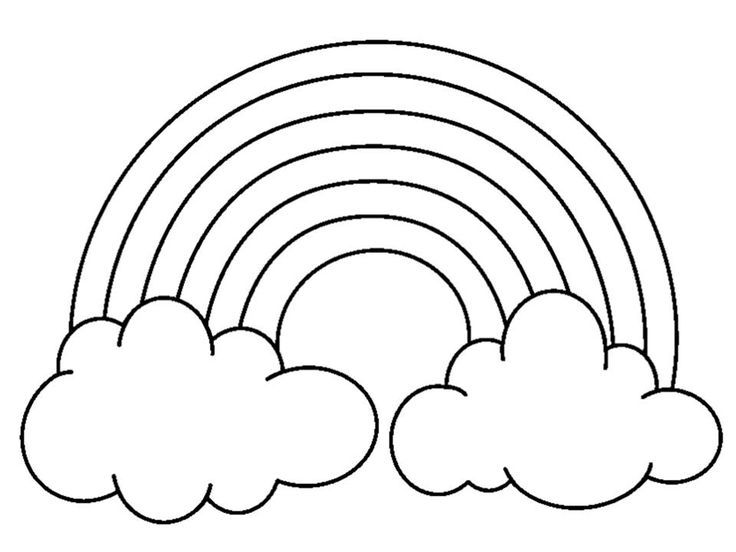 rainbow coloring pages with color words free coloring