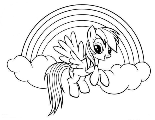 rainbow dash coloring pages my little pony drawing pony